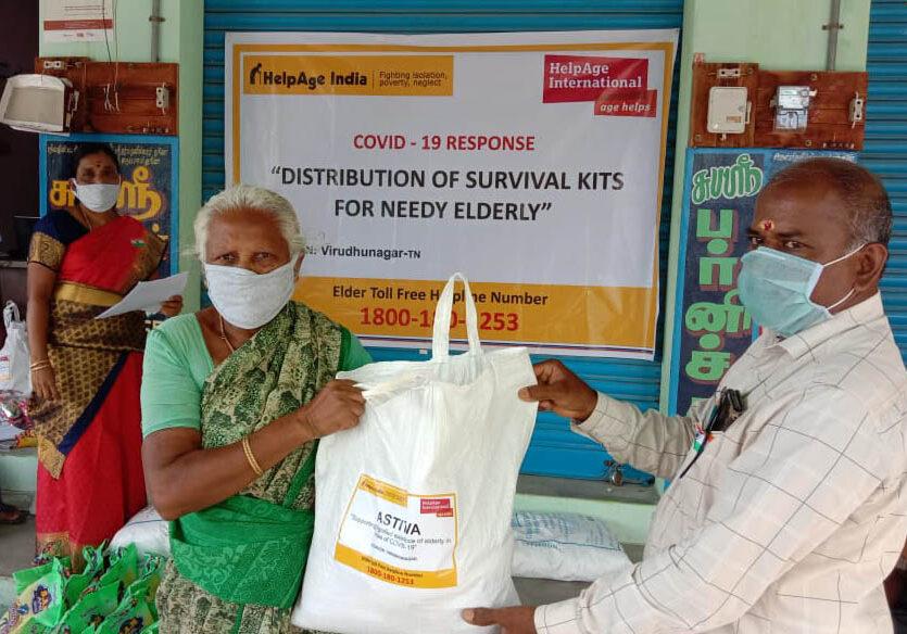 ESHG Member receiving Survival Kit at M. Reddiyapatty Panchayat_crop