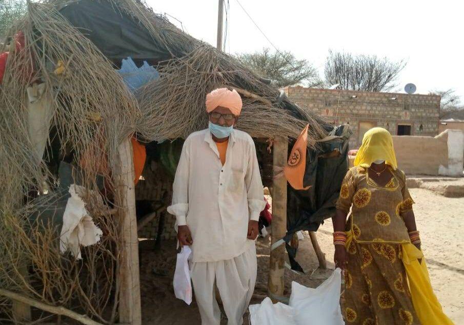 OP couple receiving food aid